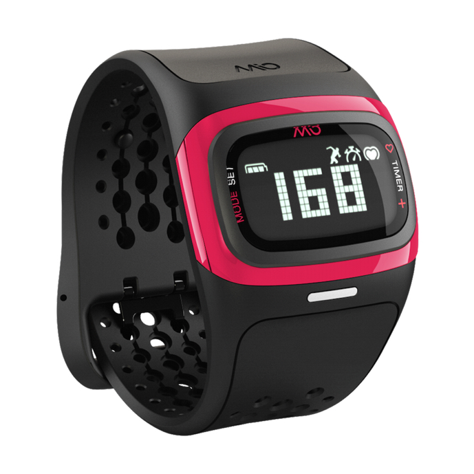 Mio ALPHA 2 sportovní hodinky BT se senzorem srdečního tepu - krátký pásek - růžové