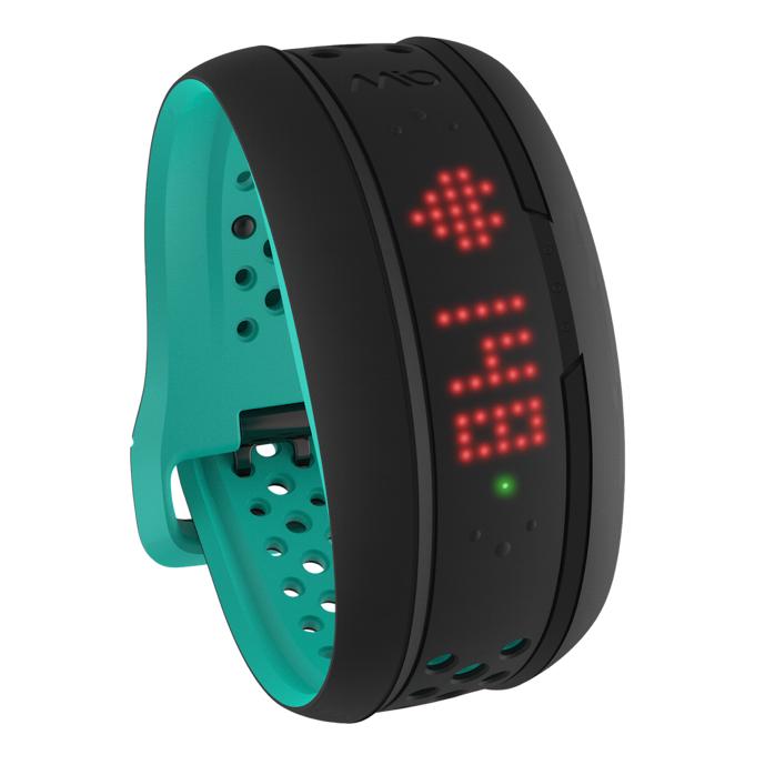 Mio FUSE senzor srdečního tepu, denní aktivity a spánku - krátký pásek - tyrkysový