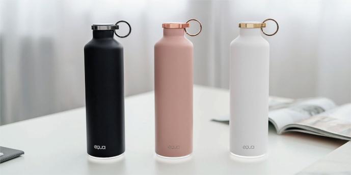 Equa – chytrá lahev z luxusních materiálů – mramor a ocel,