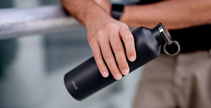 Equa –  smart lahev, růžová – vám pomůže upevnit správné návyky při hydrataci