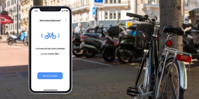 Alarm na kolo s GPS lokátorem Invoxia Bike Tracker