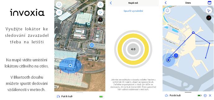Invoxia GPS Tracker hlídá zavazadla na letišti