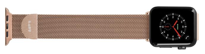 LAUT Steel Loop – řemínek na Apple Watch 42/44 mm, milánský tah, Gold