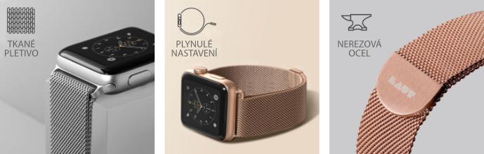 pásek na Apple Watch 38/40 mm z nerezové oceli