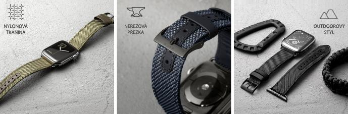 LAUT Technical 2.0 – nylonový řemínek na Apple Watch 42/44 mm