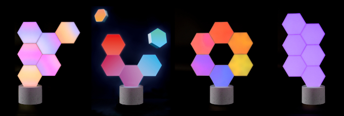 Designové interiérové osvětlení Cololight - barevné světelné sochy na kamenném podstavci