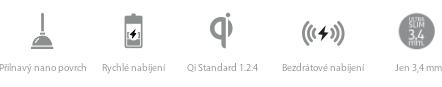 vlastnosti MiniBatt XSlim – ultratenké Qi bezdrátové nabíječky s přilnavým nano povrchem