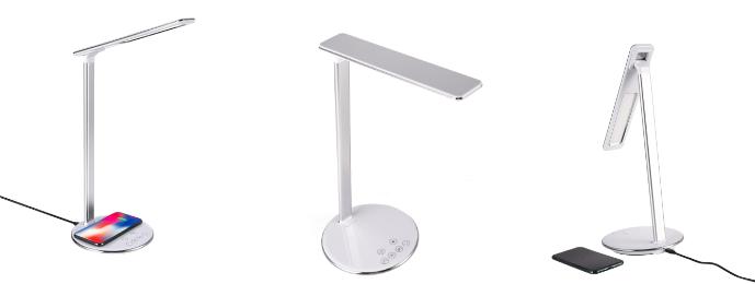 Smrter Lichta – dotyková LED lampička s bezdrátovou nabíječkou (7,5 W), bílá