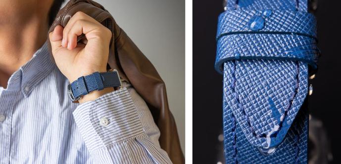 Monowear Saffiano Leather Band pro Apple Watch – kožený řemínek na apple watch