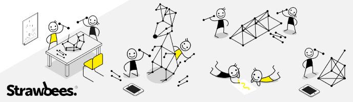 Strawbees Crazy Scientists Kit – sada Geniální vědec, výuka ve třídě