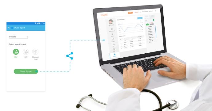 Sdílení digitálního deníku s diabetologem nebo rodinnými příslušníky