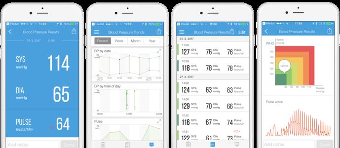 aplikace iHealth MyVitals ke sledování tělesných funkcí