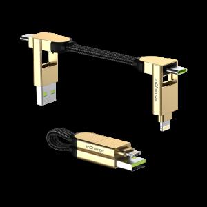 Rolling Square inCharge X – nabíjecí a datový kabel 6 v 1, mramorově béžový