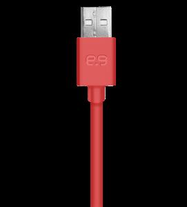 PureGear Lightning USB kabel 120 cm - červený
