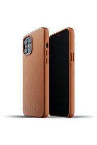 MUJJO Full Leather Case – kožený kryt na iPhone 12 Pro Max, žlutohnědý