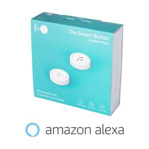 Flic 2 – 2x chytré Bluetooth tlačítko, kovový klip, nálepky