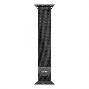 LAUT Steel Loop – pásek na Apple Watch 38/40 mm, milánský tah, Black