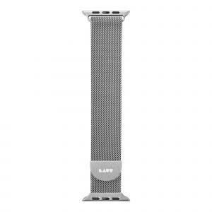 LAUT Steel Loop – pásek na Apple Watch 38/40 mm, milánský tah, Silver