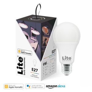Lite bulb Moments chytrá žárovka, E27, 9W, RGB 2700-6500K, HomeKit
