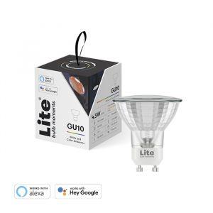 Lite bulb Moments – chytrá žárovka, GU10, 4,5W Spot, RGB+W2700K