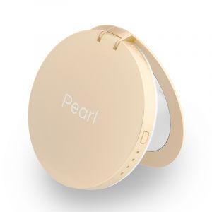 Hyper Pearl make-up mirror & powerbank - zlatá