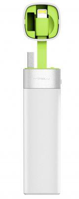 MiPow externí baterie Power Tube 3000 Lightning - bílá