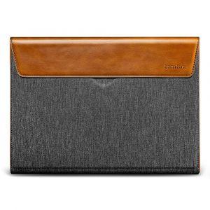 tomtoc Premium Sleeve – 16'' MacBook Pro 2019, šedá, koňaková