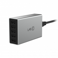 LAB.C X5 5Port USB Wall Charger - šedý