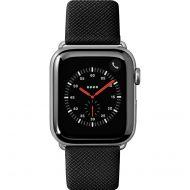 LAUT Prestige –saffiánový řemínek na Apple Watch 42/44 mm, černý