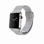 Monowear Silver Mesh Band pro Apple Watch - Silver Polished 42 mm
