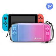 tomtoc tenké pouzdro na Nintendo Switch, modro růžová