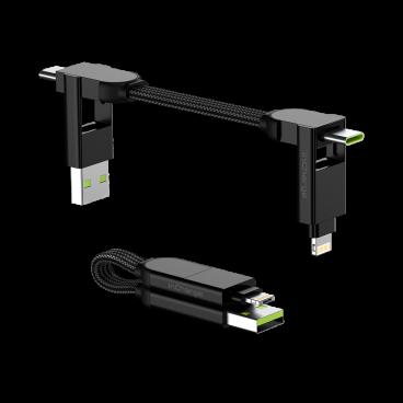 Rolling Square inCharge X – nabíjecí a datový kabel 6 v 1, černý