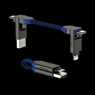Rolling Square inCharge X – nabíjecí a datový kabel 6 v 1, Safírově modrý