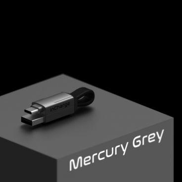 inCharge 6 – nabíjecí a datový kabel 6 v 1, šedý