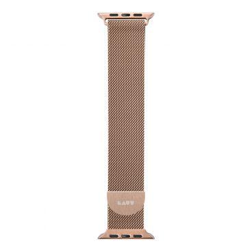 LAUT Steel Loop – pásek na Apple Watch 38/40 mm, milánský tah, Gold