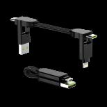 Rolling Square inCharge X - nabíjecí a datový kabel 6 v 1, černý