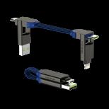 Rolling Square inCharge X - nabíjecí a datový kabel 6 v 1, Safírově modrý
