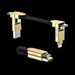 Rolling Square inCharge X - nabíjecí a datový kabel 6 v 1, mramorově béžový
