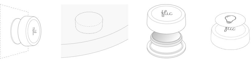 Tlačítko Flic lze umístit na jakýkoliv povrch, má vyměnitelnou baterii a rozlišovací nálepky