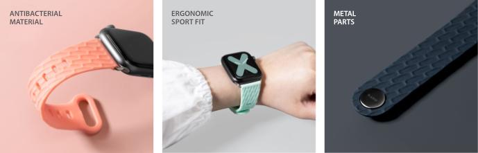 LAUT Active 2.0 – sportovní řemínek na Apple Watch 42/44 mm