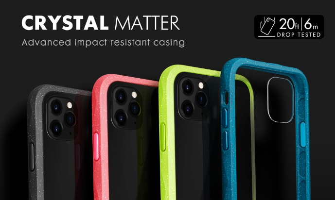 LAUT Crystal Matter – Impact Resistant Case for iPhone 11