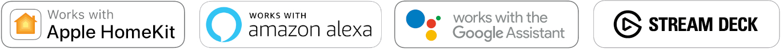 Kompatibilní s HomeKit, Alexa, Google Home a Stream Deck