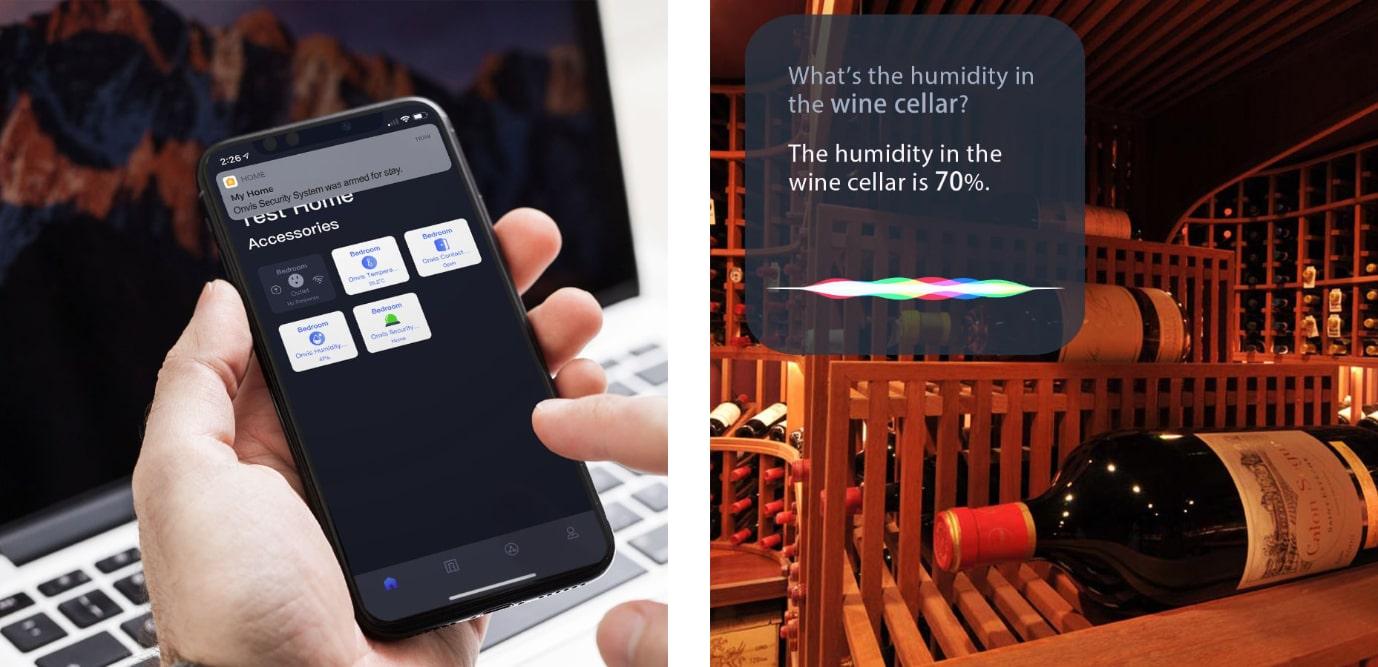 ONVIS Alarm na dveře / okno umožňuje automatizace chytré domácnosti Apple a hlasové povely Siri