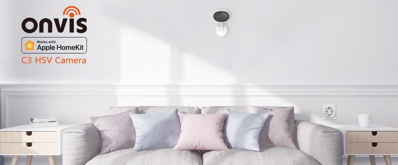ONVIS Wi-Fi kamera do bytu – funkce HomeKit Secure Video, rozlišení 1080 p / 30 fps