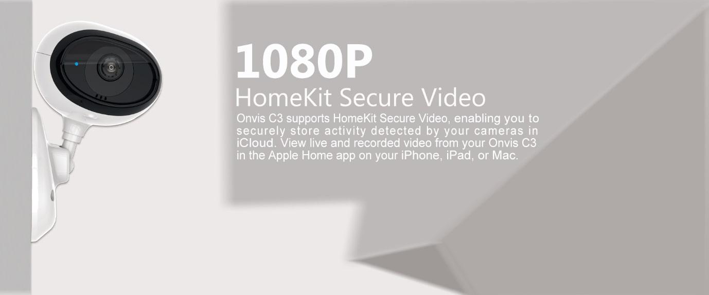 HD rozlišení IP kamery Onvis C3 1080 pixelů