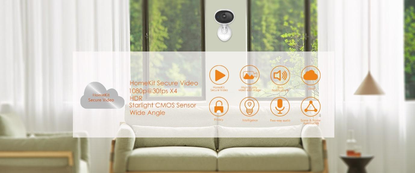 ONVIS IP Wi-Fi kamera – s HomeKit Secure Video na iCloud