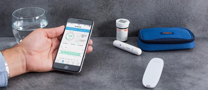 iHealth smart sada glukometru, odběrového pera a testovacích proužků, měření glykémie