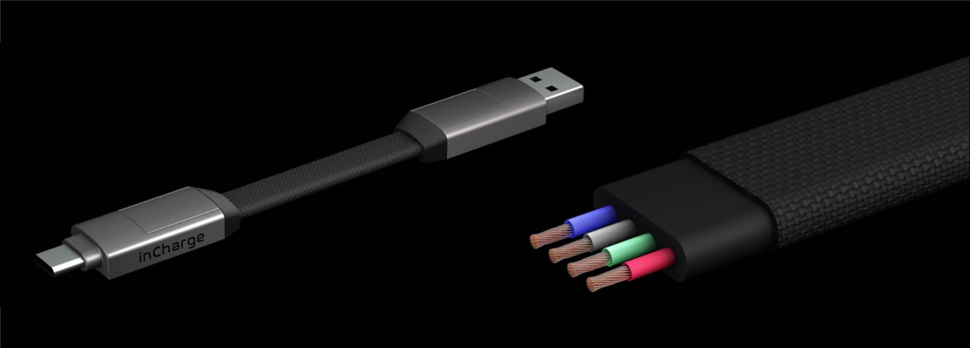 Extra odolné součástky a provedení kabelu inCharge 6